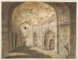 The interior of the Jam Masjid at Rajmahal
